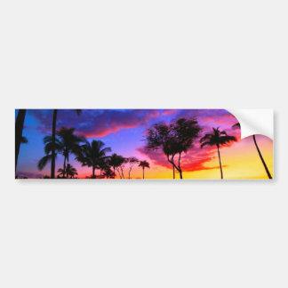 Palmeras hawaianas exóticas de la playa de la pegatina para auto