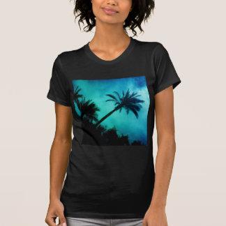 Palmeras hawaianas camiseta