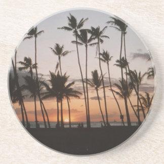 Palmeras hawaianas posavasos personalizados