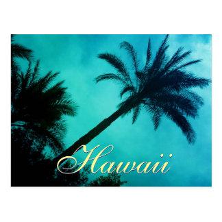 Palmeras hawaianas tarjeta postal