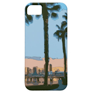 Palmeras hawaianas tranquilas de la puesta del sol iPhone 5 coberturas