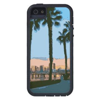 Palmeras hawaianas tranquilas de la puesta del sol iPhone 5 cárcasas