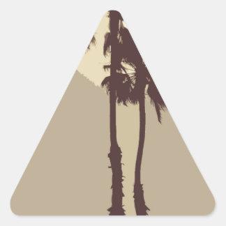 Palmeras Pegatina Triangular