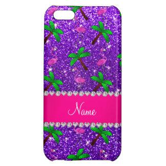 Palmeras púrpuras de los flamencos del brillo del