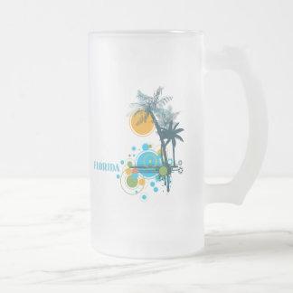 Palmeras Sun y círculo la FLORIDA Taza De Café