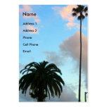 palmeras tarjetas de visita grandes
