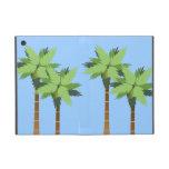 Palmeras tropicales altas de la isla con el cielo  iPad mini carcasas