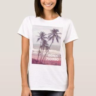palmeras, verano, playa por favor playera