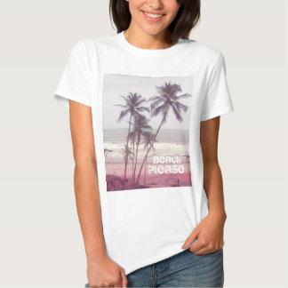palmeras, verano, playa por favor polera