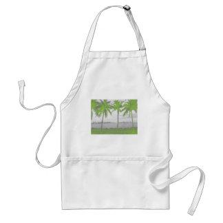 Palmeras verde de Miami, la Florida Delantal
