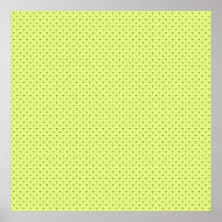 Palmeras verdes atractivas en surfac amarillo áspe impresiones