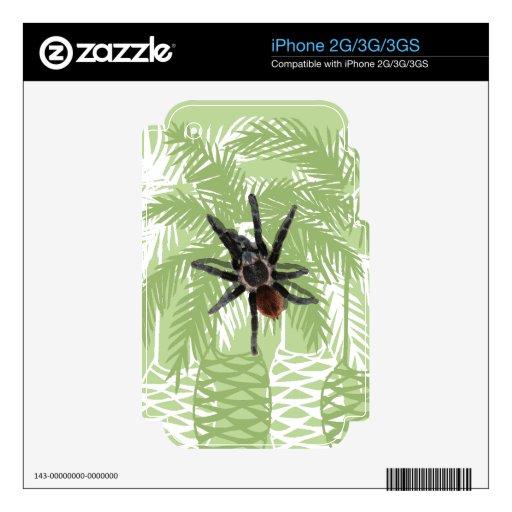 Palmeras verdes con el tarantula iPhone 3 skins