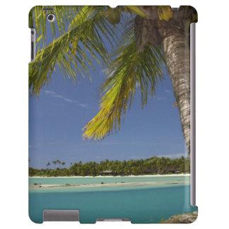 Palmeras y laguna, centro turístico isleño de la e funda para iPad