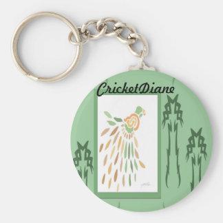 Palmeras y pájaro de CricketDiane Llavero Personalizado