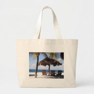 Palmeras y playa de México de las sillas Bolsa Tela Grande