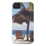 Palmeras y playa de México de las sillas iPhone 4 Coberturas