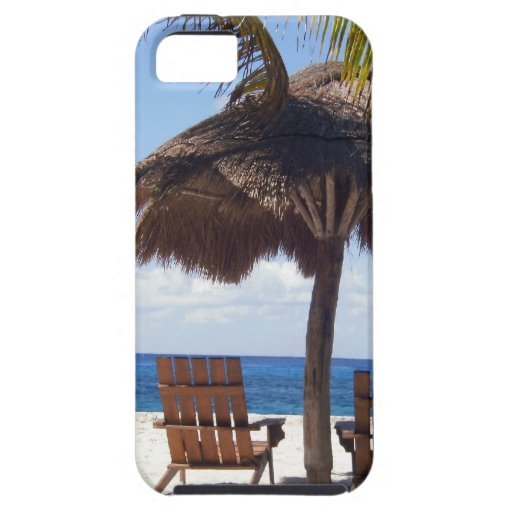 Palmeras y playa de México de las sillas iPhone 5 Coberturas