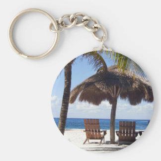Palmeras y playa de México de las sillas Llaveros