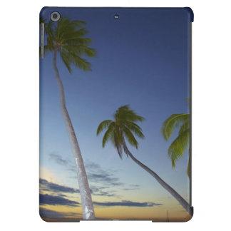 Palmeras y puesta del sol, centro turístico isleño funda para iPad air