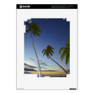 Palmeras y puesta del sol, centro turístico isleño iPad 3 pegatinas skins