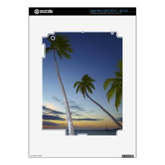Palmeras y puesta del sol, centro turístico isleño iPad 3 skins