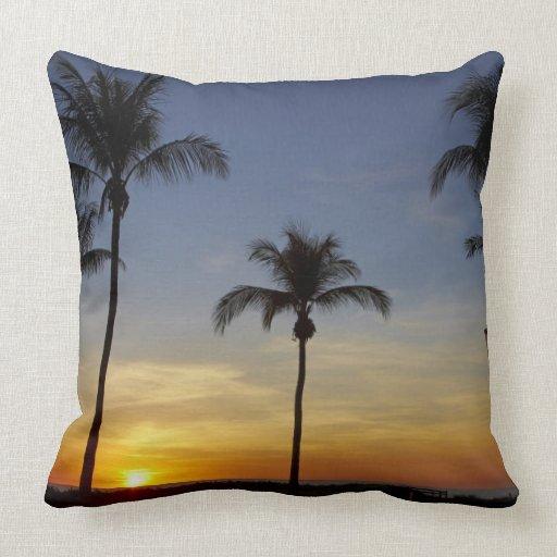 Palmeras y puesta del sol, playa de Mindil Almohadas