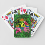 Palmeras y puestas del sol de la isla cartas de juego