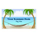 Palmeras y tarjeta de visita de la playa de la ham