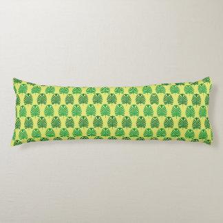 Palmette amarillo verde abstracto del vintage almohada