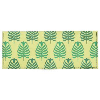 Palmette amarillo verde abstracto del vintage billeteras tyvek®
