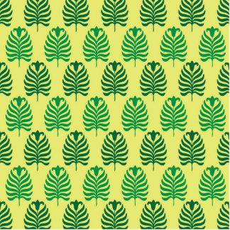 Palmette amarillo verde abstracto del vintage fotoescultura vertical
