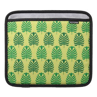 Palmette amarillo verde abstracto del vintage funda para iPads