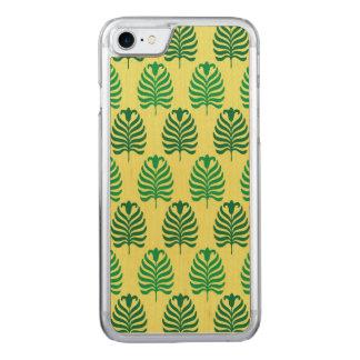 Palmette amarillo verde abstracto del vintage funda para iPhone 7