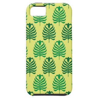 Palmette amarillo verde abstracto del vintage funda para iPhone SE/5/5s
