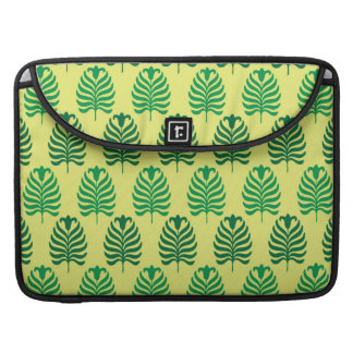 Palmette amarillo verde abstracto del vintage fundas para macbook pro