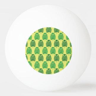Palmette amarillo verde abstracto del vintage pelota de tenis de mesa