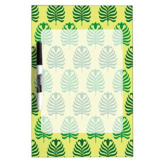 Palmette amarillo verde abstracto del vintage pizarras