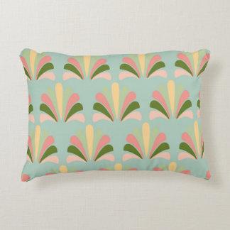 Palmette amarillo verde rosado abstracto del