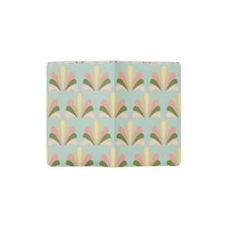 Palmette amarillo verde rosado abstracto del libreta de bolsillo moleskine