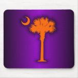 Palmetto anaranjado mousepads