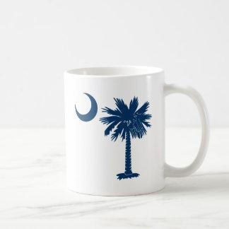 Palmetto azul taza clásica