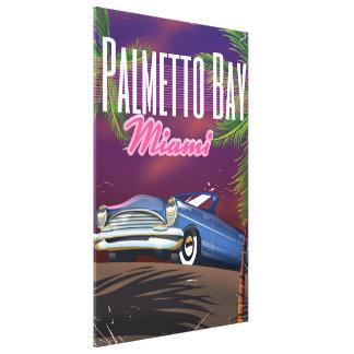 Palmetto Bay Florida USA 80s travel poster Canvas Print