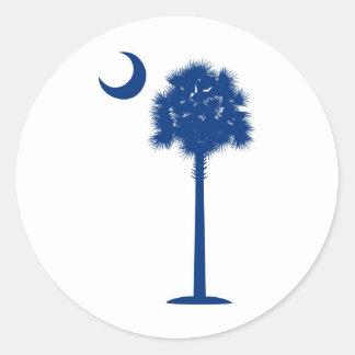 Palmetto del azul de Carolina del Sur Etiqueta