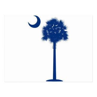 Palmetto del azul de Carolina del Sur Postales