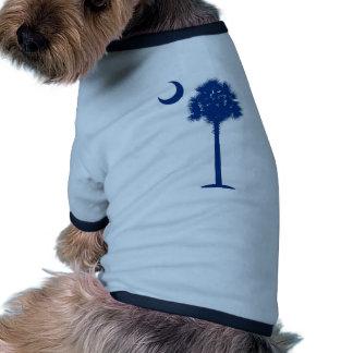 Palmetto del azul de Carolina del Sur Camiseta De Perro