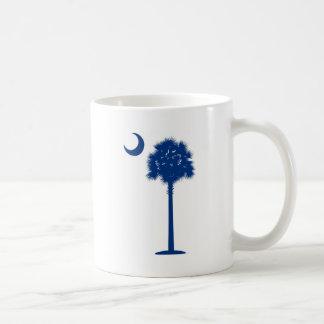 Palmetto del azul de Carolina del Sur Taza De Café