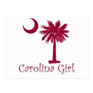 Palmetto del chica de Carolina del granate Tarjetas Postales