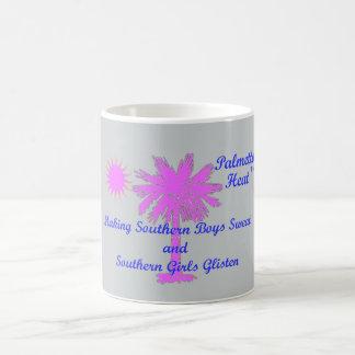 Palmetto Heat...Southern Boys Sweat..Girls Glisten Classic White Coffee Mug