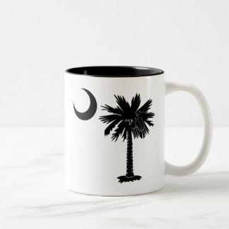 Palmetto negro taza de dos tonos