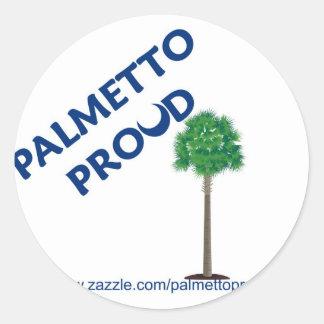 Palmetto orgulloso etiquetas redondas